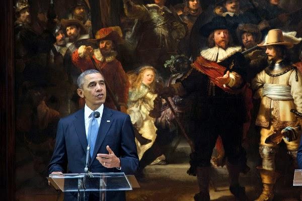 Obama in amsterdam