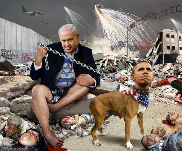netanyahu-holding-obama-dog